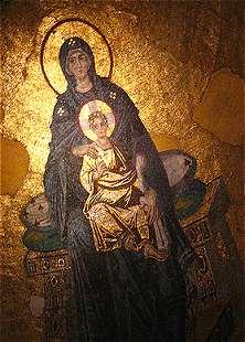 Madonna in de Hagias Sophia in Istanboel