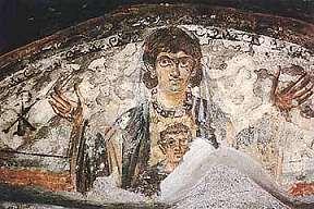 Madonna met kind, catacomben, vierde eeuw.