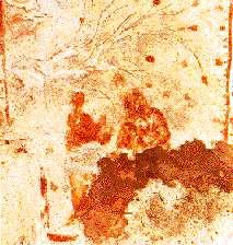 Madonna met kind, Priscillacatacombe, tweede eeuw.