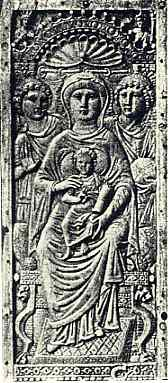 Afb. 3. Madonna, Byzantijnsch ivoor VIe eeuw (Berlijn Kaiser Friedrich Museum)