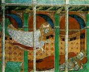 Nicolaas verschijnt in een droom aan de keizer Constantijn.