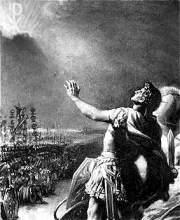 Constantijn ziet bij de Milvische brug het christelijke monogram aan de hemel.