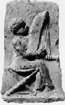 Oud-Babylonische harpist uit Isin-Larsa, ca 2000 - 1600 v.o.j.