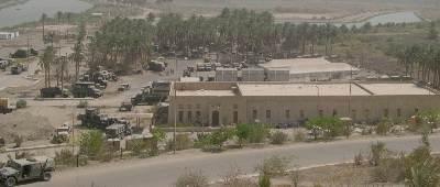 Militaire basis op het opgravingsterrein van Babylon.