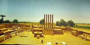 Gerestaureerde tempel van Marib.